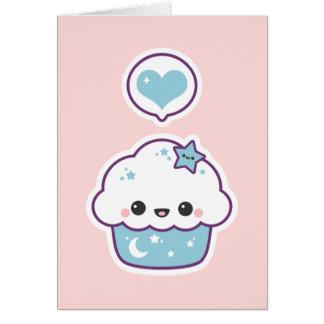 Blue Space Cake Card
