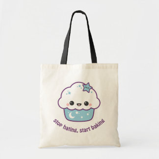 Blue Space Cake Tote Bag