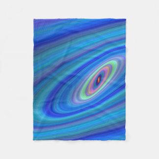 Blue space fleece blanket