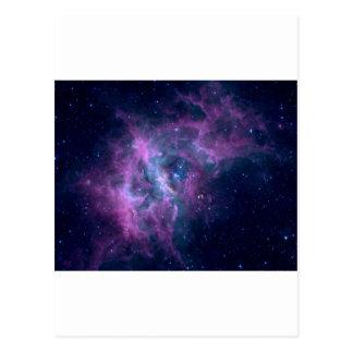 Blue Space Nebula Postcard