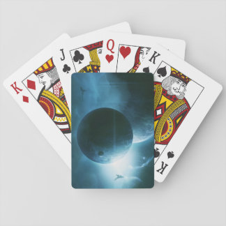 Blue Space Playing Cards