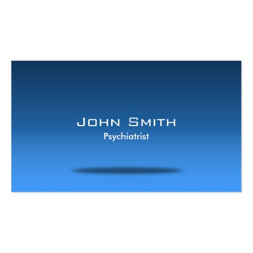 Blue Space Psychiatrist Business Card