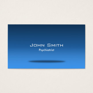 Blue Space Psychiatrist Business Card