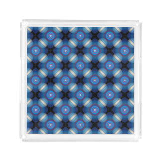 Blue Spacey Geometric Acrylic Tray