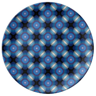 Blue Spacey Geometric Plate