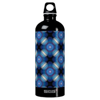 Blue Spacey Geometric Water Bottle