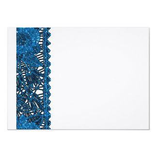 Blue Spangled Lace Personalized Thank You Note 11 Cm X 16 Cm Invitation Card