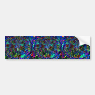 Blue Sparkle Alien Planet Bumper Sticker