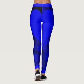 Blue Sparkle Blue Heart Leggings