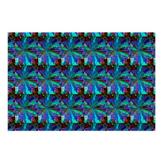 BLUE Sparkle Graphic Pattern Poster