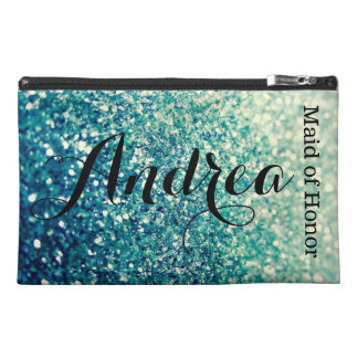 Blue Sparkle Makeup Accessory Bag