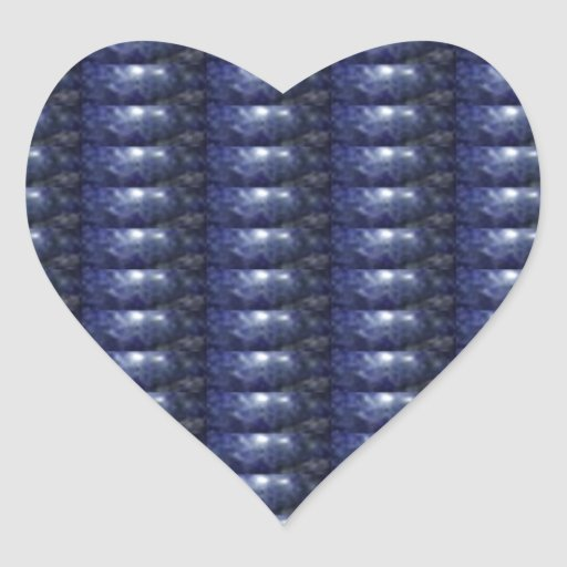 BLUE Sparkle Patch: Based  Healing CRYSTAL STONE Heart Sticker