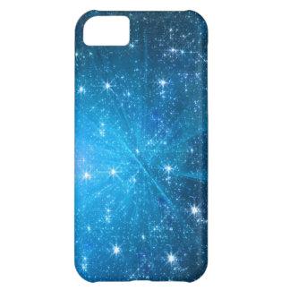 Blue sparkles iphone 5 case