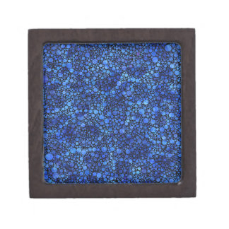 Blue Speckled Abstract Premium Keepsake Box