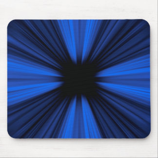 Blue speed lines mouse pad