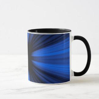 Blue speed lines mug