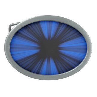 Blue speed lines oval belt buckles