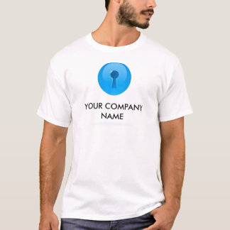 Blue Sphere With Keyhole Customizable T-Shirt