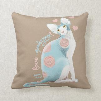 💛💙💛 Blue Sphynx 💛💙💛 Cushion