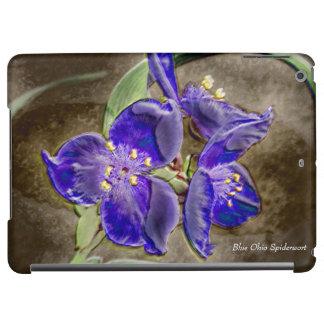 Blue Spiderwort Flowers Glossy iPad Air Case