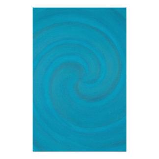 Blue Spiral Customized Stationery