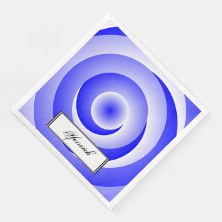Blue Spiral Illusion by Kenneth Yoncich Disposable Serviette