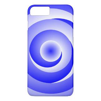 Blue Spiral Illusion iPhone 7 Plus Case
