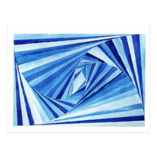 Blue Spiral Postcard
