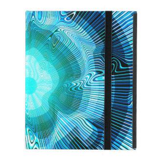 Blue Spiral Psychedelic iPad Folio Case