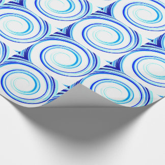 Blue Spiral Wrapping Paper