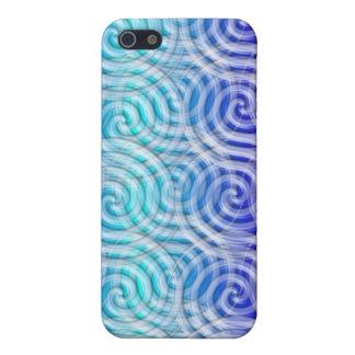 Blue  Spirals Design I Phone Case