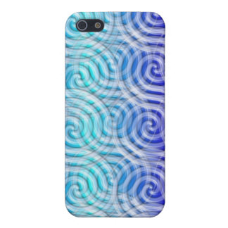 Blue  Spirals Design I Phone Case iPhone 5 Case