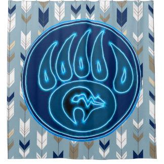 Blue Spirit Bear & Arrows Shower Curtain