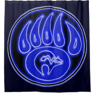 Blue Spirit Bear Southwest Design Shower Curtain