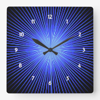 Blue Spirit Circle Wall Clocks