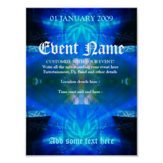 Blue Spirit Event Poster Template #013