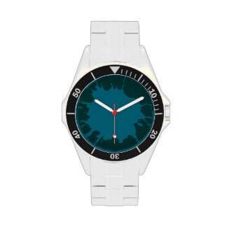blue splash hour wristwatch
