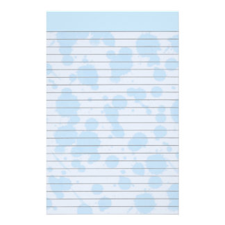 Blue Splash Lined Stationery