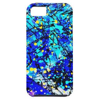 Blue Splatter Paint iPhone 5 Cases