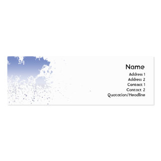 Blue Splatter - Skinny Pack Of Skinny Business Cards