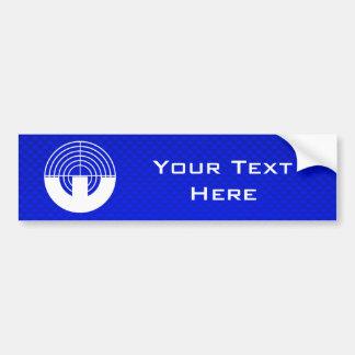 Blue Sport Shooting Bumper Sticker