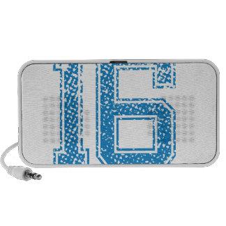 Blue Sports Jerzee Number 16 Speakers