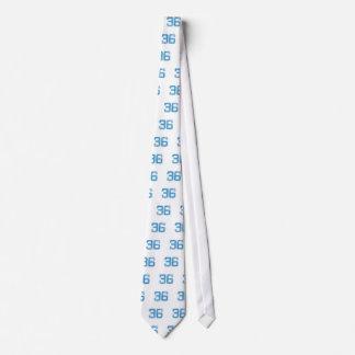 Blue Sports Jerzee Number 36 Tie