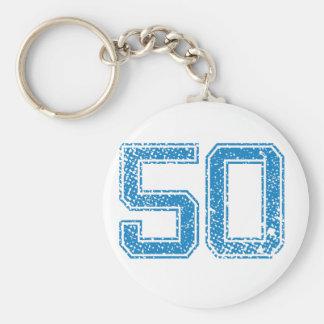 Blue Sports Jerzee Number 50 Key Ring