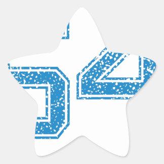 Blue Sports Jerzee Number 54 Star Sticker