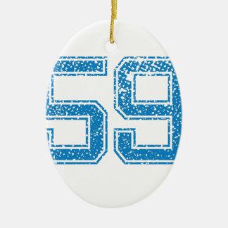 Blue Sports Jerzee Number 59.png Ceramic Oval Decoration