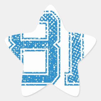 Blue Sports Jerzee Number 81.png Star Sticker