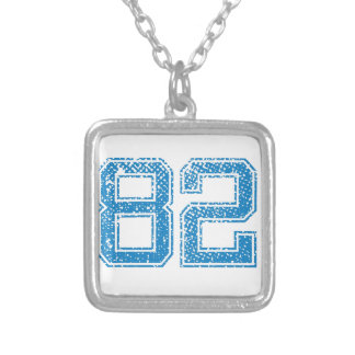 Blue Sports Jerzee Number 82.png Personalized Necklace