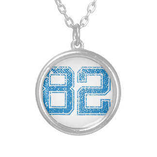 Blue Sports Jerzee Number 82.png Necklaces