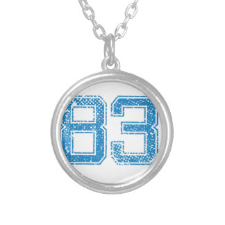 Blue Sports Jerzee Number 83.png Personalized Necklace